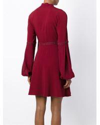 Giamba Tie Neck Dress In Red Lyst