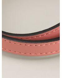 BVLGARI | Pink Snakes Head Wrap Bracelet | Lyst