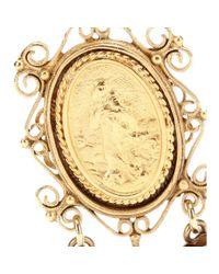 Dolce & Gabbana   Metallic Madonne Embellished Clipon Earrings   Lyst