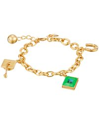 kate spade new york | Metallic How Charming Graduation Charm Bracelet | Lyst