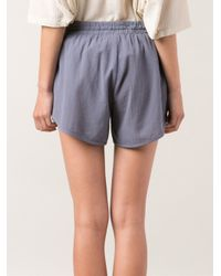 Lacausa - Blue Overlap Drawstring Shorts - Lyst
