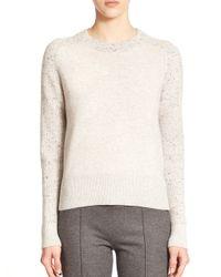 Rag & Bone | Gray Catherine Speckled Cashmere Sweater | Lyst