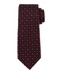 Kiton | Blue Circle-on-circle Silk Tie for Men | Lyst