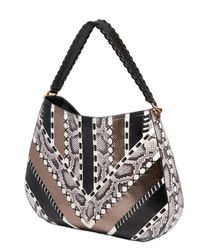 Roberto Cavalli Multicolor Ayers Patchwork On Nappa Leather Bag