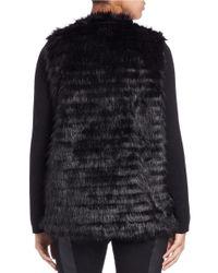 Kensie | Black Faux Fur Jacket | Lyst