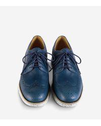 Cole Haan - Blue Lunargrand Long Wingtip Oxford for Men - Lyst