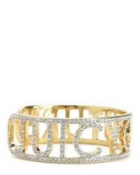 Juicy Couture | Metallic Pave Cuff | Lyst
