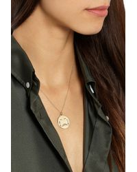 Alison Lou - Metallic Cry Baby 14-Karat Gold Diamond Necklace - Lyst