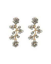 Oscar de la Renta - Metallic Swarovski Crystal Branch Earrings - Lyst