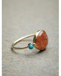 Free People - Metallic Sunstone Slice Ring - Lyst