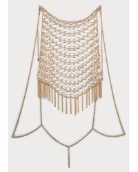 Bebe | Metallic Bead & Fringe Body Jewelry | Lyst