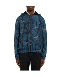Givenchy - Blue Paisley-Print Hooded Jacket for Men - Lyst
