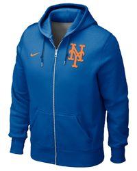 Nike | Blue Men'S New York Mets Full-Zip Hoodie Sweatshirt for Men | Lyst
