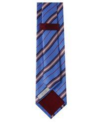 Eton of Sweden | Blue Diagonal Stripe Silk Tie for Men | Lyst