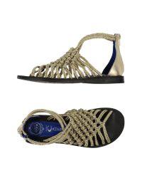 Jeffrey Campbell - Metallic Sandals - Lyst