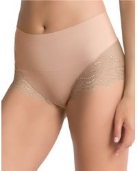 Spanx | Natural Lace Hi-rise Hipster Panty | Lyst