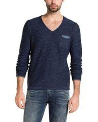 BOSS Orange | Blue Cotton Sweater 'abramo' for Men | Lyst