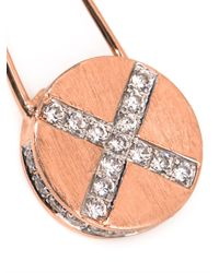 Genevieve Jones - Metallic Riona Shield Safety Pin Earrings - Lyst