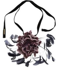 Dries Van Noten - Multicolor Velvet Floral Necklace - Lyst