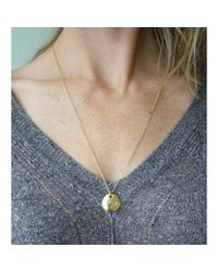 Peyton William Handmade Jewelry | Metallic Grecian Disc 18kt Gold Filled Necklace | Lyst