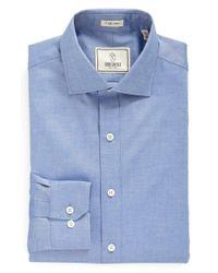 Todd Snyder | Blue Trim Fit Solid Dress Shirt for Men | Lyst