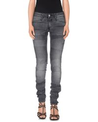 Closed - Gray Denim Trousers - Lyst