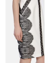 Karen Millen | Black Placed Lace Dress | Lyst
