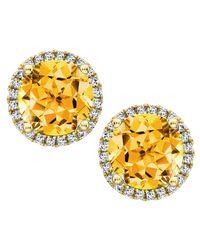 Kiki McDonough - Metallic Grace 18K Gold Citrine & Diamond Earrings - Lyst