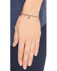 Shashi | Gray Lilu Metallic Bracelet - Bronze | Lyst