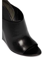 Alexander Wang - Black 'alla' Cutout Wedge Sandals - Lyst