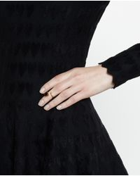 Bijules | Green Black Emerald Knuckle Ring | Lyst