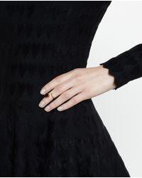 Bijules - Green Black Emerald Knuckle Ring - Lyst