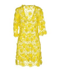 Agogoa | Yellow Short Dress | Lyst