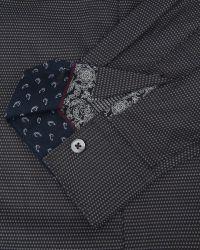 Ted Baker | Black Bigidea Micro Dobby Shirt for Men | Lyst