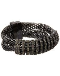 Guess | Black Multi Chain With Stone Magnetic Close Bracelet | Lyst