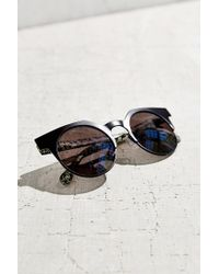 Urban Outfitters | Black Metal Cat Round Sunglasses | Lyst