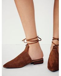 Free People | Brown Hey Juliet Fl | Lyst