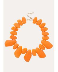 Bebe | Orange Resin Stone Necklace | Lyst