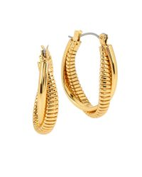 Diane von Furstenberg | Metallic All The Glitz Omega Twist Oval Hoop Earrings- 1in | Lyst