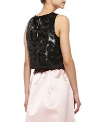 Parker Black - Pink Karmina Embellished Sleeveless Crop Top & Lenore Ball Skirt With Gathered Waist - Lyst