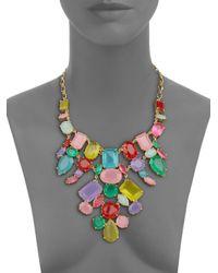 kate spade new york | Pink Gumdrop Gems Bib Necklace | Lyst