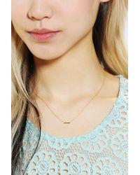 Adina Reyter - Metallic Tiny Bar Necklace - Lyst