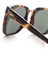 Le Specs - Brown No Mistakes Tortoiseshell Sunglasses - Lyst