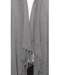 Jamison | Gray Fringe Cardigan Sweater | Lyst