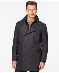 Marc New York | Gray Big & Tall Double Breasted Mulberry Coat for Men | Lyst