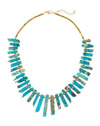 Panacea | Blue Tapered Jasper Stick Necklace | Lyst