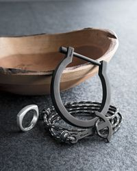 Miansai - Black Matte Medium Cuff for Men - Lyst