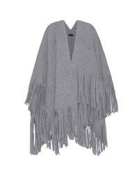 Burberry Prorsum - Gray Wool-blend Cape - Lyst