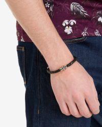 Ted Baker | Black Thick Leather Bracelet for Men | Lyst