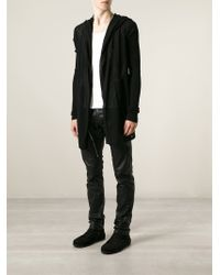 Rick Owens - Black Hooded Cardigan for Men - Lyst